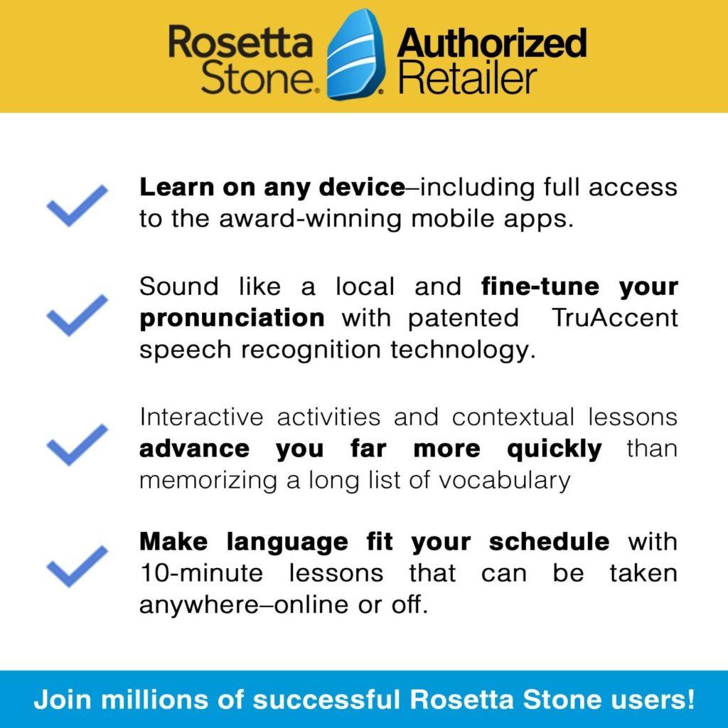 Rosetta Stone - Lifetime account license per language