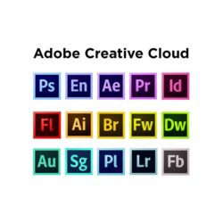 Adobe Creative Cloud & All Genuine Software - 1 Year Authentic License - Month-to-month (12 Months)