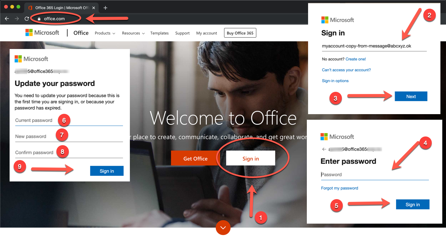 Office365 account how-to