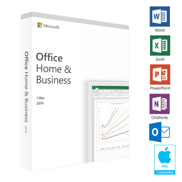 MS Office 2019 Home & Business for MAC - Authentic Key - AU Stock