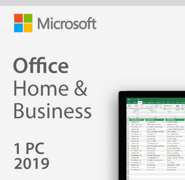 MS Office 2019 Home & Business for Windows/MAC - Authentic Bind Key